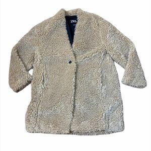 Zara Teddy Sherpa Jacket Coat